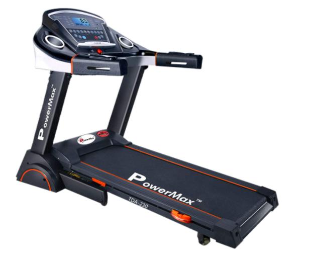PowerMax Fitness TDA-230 (4HP Peak) Smart Folding Electric Treadmill with Auto Incline