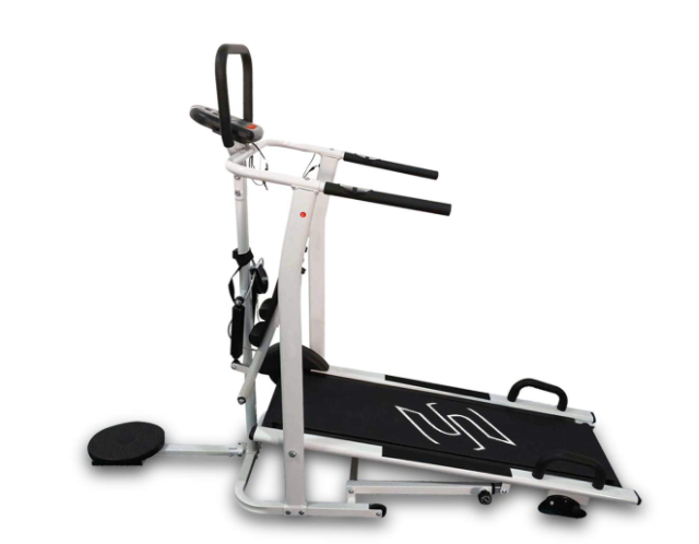 Sparnod Fitness STH-600 Manual Treadmill (4-in1) Running Machine