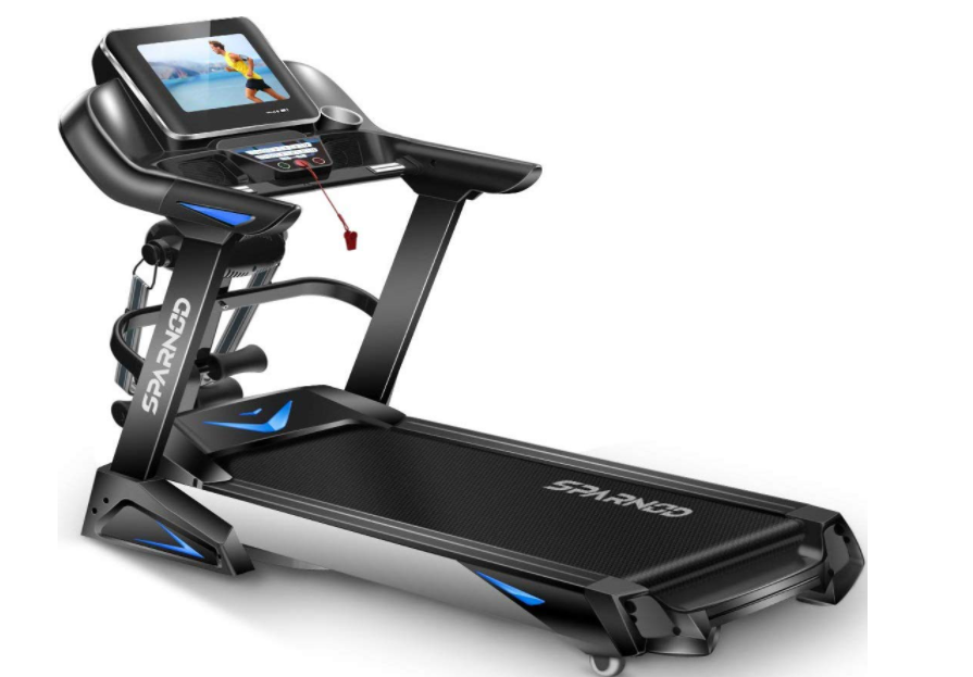 Sparnod Fitness STH-6000 (6 HP Peak) Automatic Treadmill